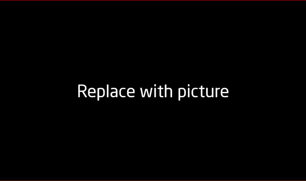 Replace with picture - sustainable solution