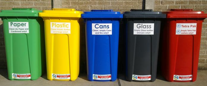 color code waste bins