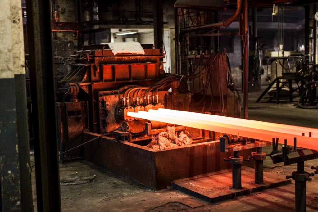 Casting of iron bars